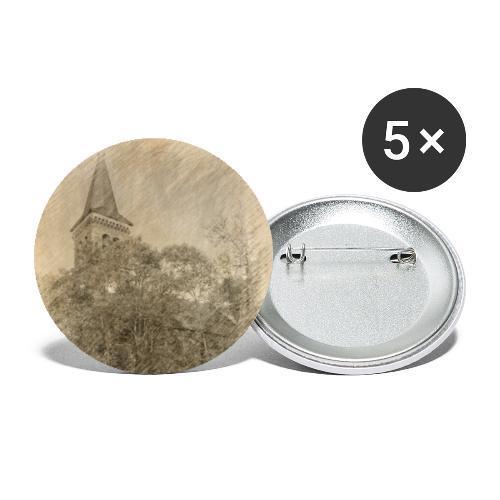 Baalberger Kirche - Buttons klein 25 mm (5er Pack)