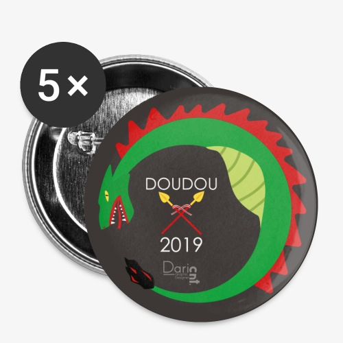 Doudou 2019 - Lot de 5 petits badges (25 mm)