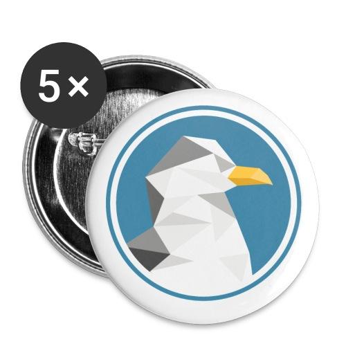 Möwe Silhouette Meer Tier Geschenk - Buttons klein 25 mm (5er Pack)