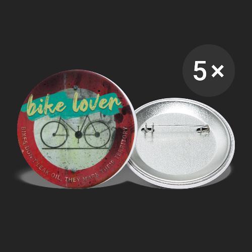 Bike lover - Lot de 5 petits badges (25 mm)