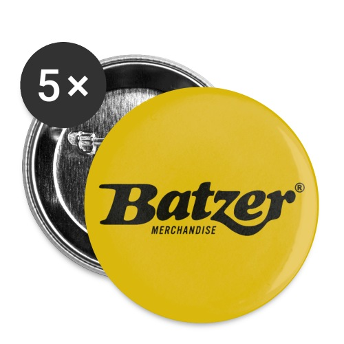 Batzer Button Geel 5x - Buttons klein 25 mm (5-pack)