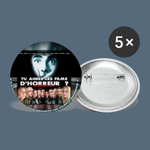Badge Tu aimes les films d'horreur ? Saison 4 - Lot de 5 petits badges (25 mm)