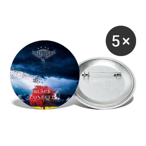 Black Confetti Promo Design - Buttons small 1''/25 mm (5-pack)