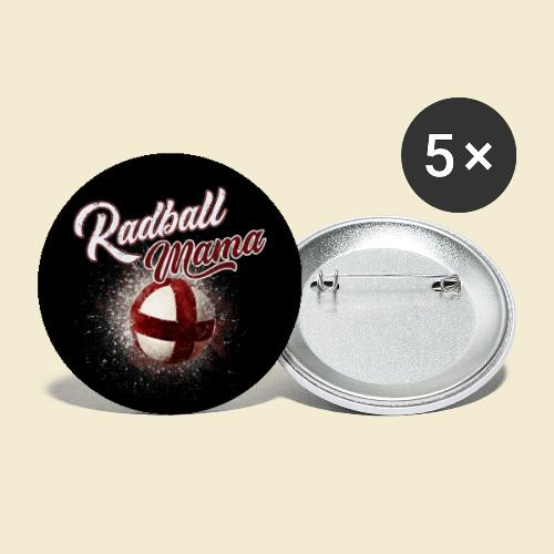 Radball | Mama Maske - Buttons klein 25 mm (5er Pack)