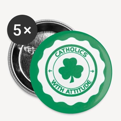 IRISH CATHOLIC BADGE NEW - Buttons small 1''/25 mm (5-pack)