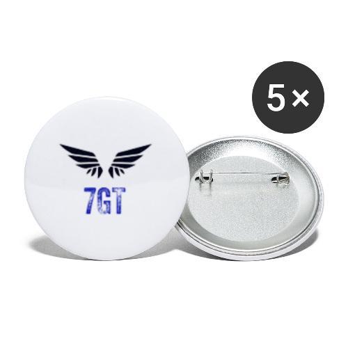 7GT Shop - Confezione da 5 spille piccole (25 mm)