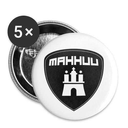 MaHHuU - Motorradfahrer aus Hamburg und Umgebung - Buttons klein 25 mm (5er Pack)