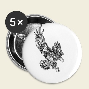 Freedom-Adler - Buttons klein 25 mm