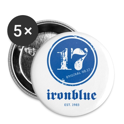 ironblueno17schrift gross - Buttons klein 25 mm (5er Pack)
