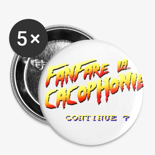 Continue ? - Lot de 5 petits badges (25 mm)