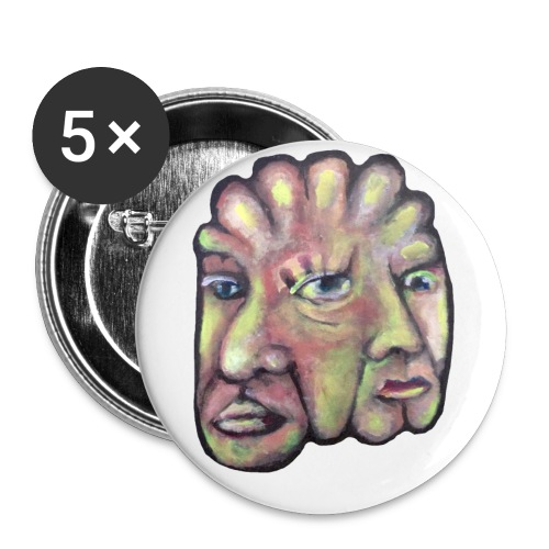 Think Twice - Buttons/Badges lille, 25 mm (5-pack)