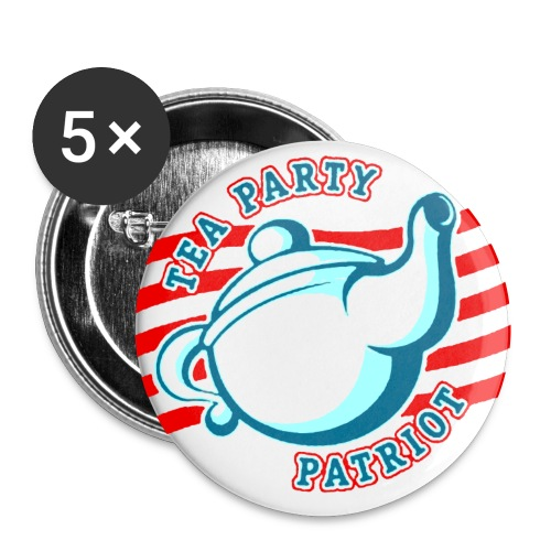 TEA PARTY PATRIOT - Buttons klein 25 mm (5er Pack)