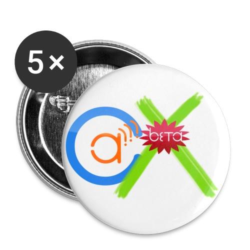 logooberbeta300 - Buttons klein 25 mm (5er Pack)