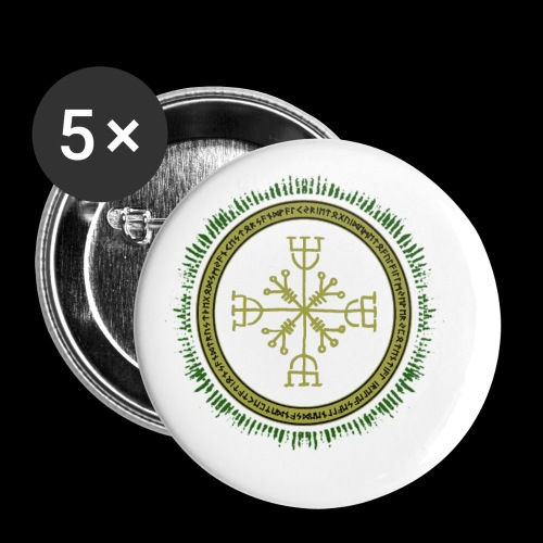Norse Runes with Aegishjalmur 2017 - Buttons small 1''/25 mm (5-pack)