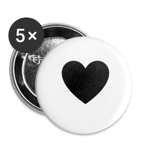 heart - Små knappar 25 mm (5-pack)