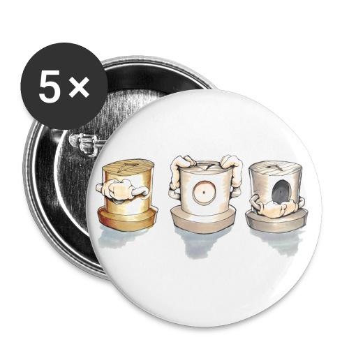 See no evil, Hear no evil, Speak no evil - Buttons/Badges lille, 25 mm (5-pack)