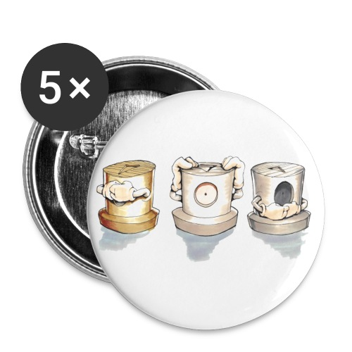 see no evil ! Rasmus Balstrøm colors √ - Buttons/Badges lille, 25 mm (5-pack)