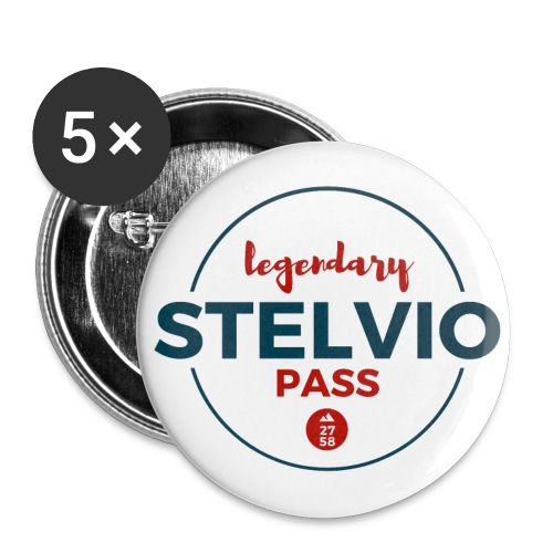 RETRO - Buttons klein 25 mm (5er Pack)