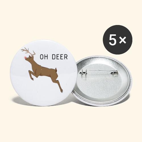 Oh Deer! - Buttons klein 25 mm (5-pack)