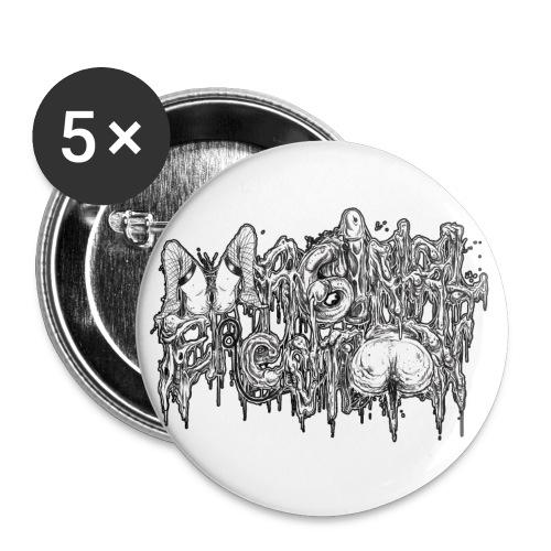 VxEx Logo - Buttons klein 25 mm (5er Pack)
