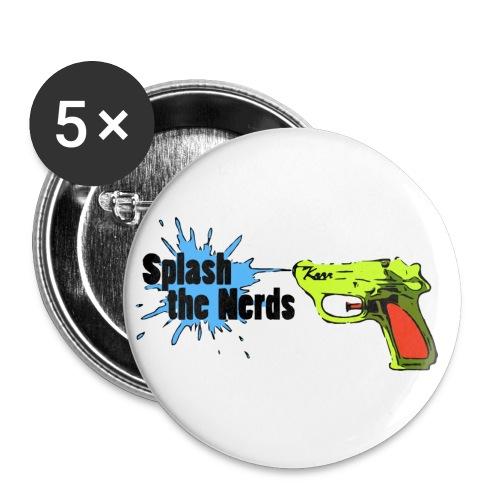 Splash the Nerds - Buttons klein 25 mm (5er Pack)