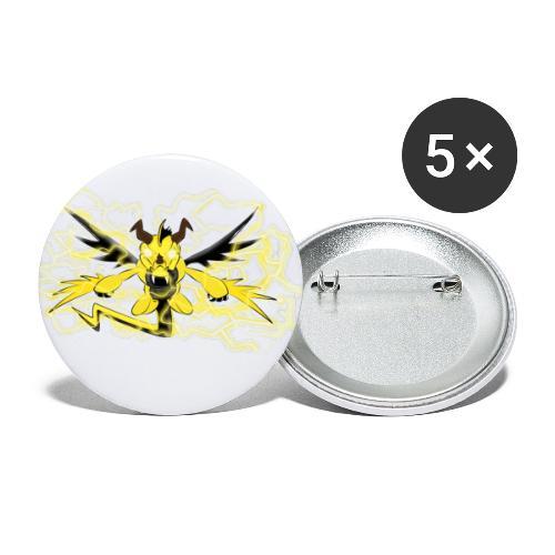 Fulgur il drago elettrizzante - Confezione da 5 spille piccole (25 mm)