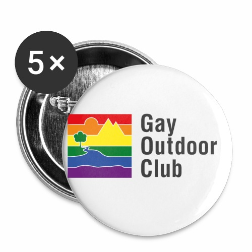 GOC Logo Black Text - Buttons small 1''/25 mm (5-pack)