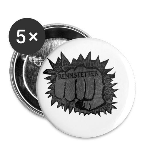 RENNSTETTER - Buttons klein 25 mm (5er Pack)
