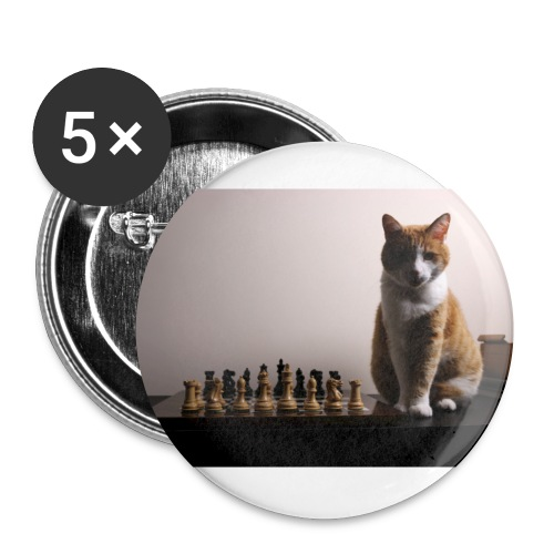 Charlie and his chess board - Buttons small 1''/25 mm (5-pack)
