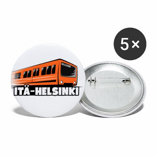 METRO ITÄ-HELSINKI T-paidat, Hupparit, lahjat ym. - Rintamerkit pienet 25 mm (5kpl pakkauksessa)