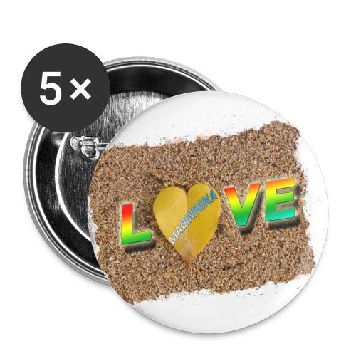 love,madinina - Lot de 5 petits badges (25 mm)