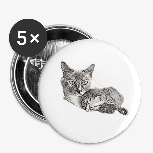 Snow and her baby - Buttons small 1''/25 mm (5-pack)
