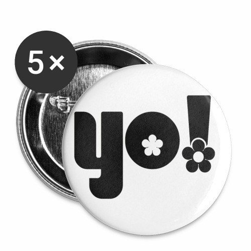 Yo power √ - Buttons/Badges lille, 25 mm (5-pack)