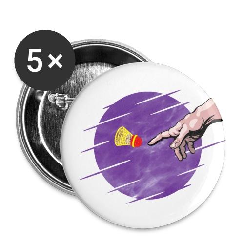 Le speedminton est une création divine! - Buttons small 1''/25 mm (5-pack)