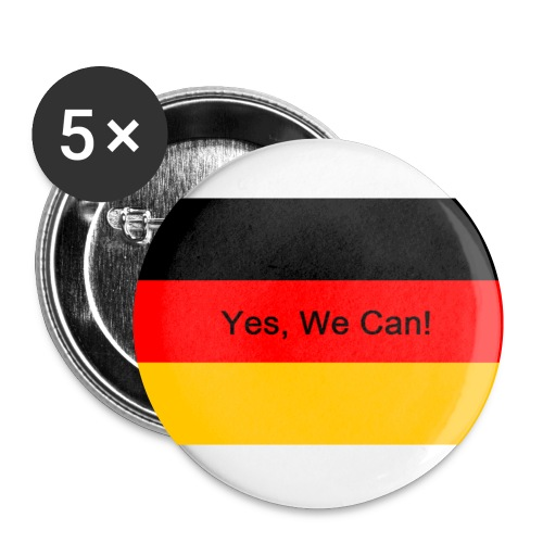 Yes we can - Buttons klein 25 mm (5er Pack)