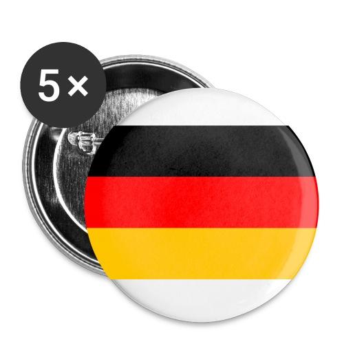 Deutschland Flagge groß - Buttons klein 25 mm (5er Pack)