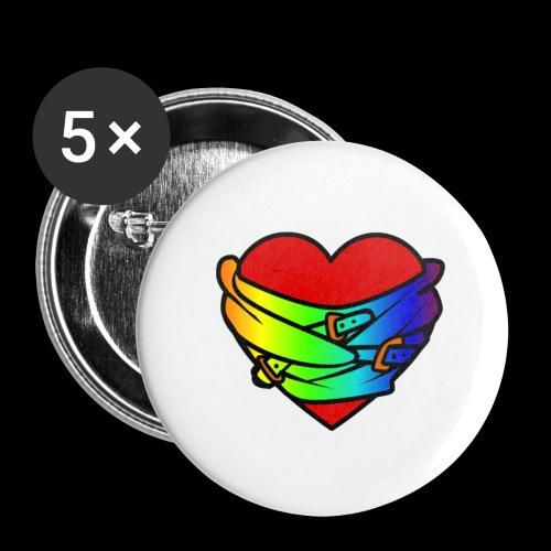 HighRezHeart - Buttons small 1''/25 mm (5-pack)