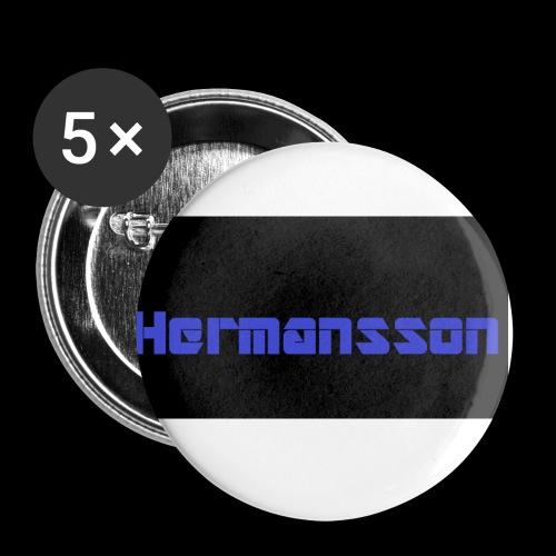 Hermansson Blå/Svart - Små knappar 25 mm (5-pack)