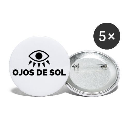 Ojos de Sol - Paquete de 5 chapas pequeñas (25 mm)