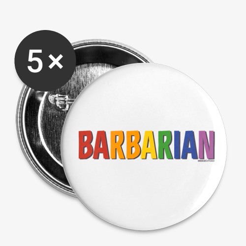 Barbarian Pride (Rainbow) - Buttons small 1''/25 mm (5-pack)