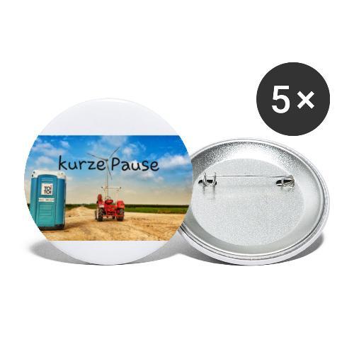 kurze Pause - Buttons klein 25 mm (5er Pack)