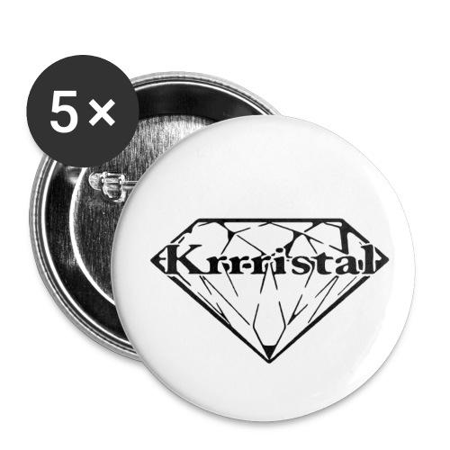 Krrristal - Buttons klein 25 mm (5er Pack)