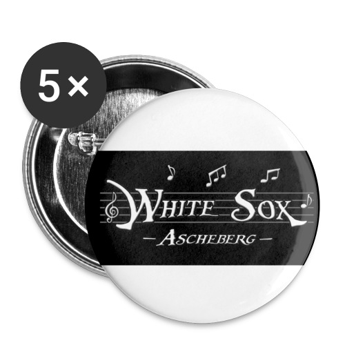white sox - Buttons klein 25 mm (5er Pack)