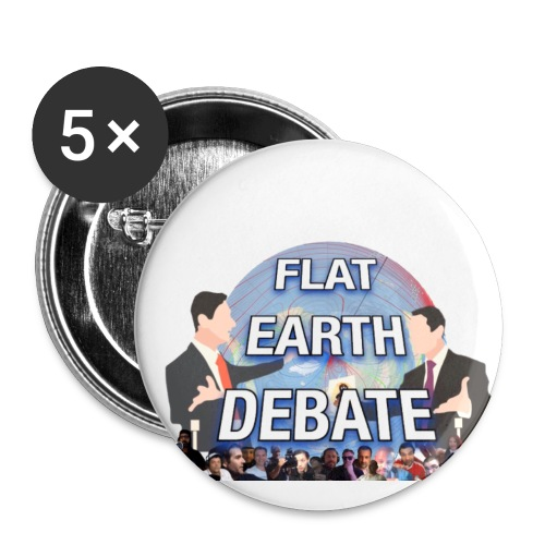 Flat Earth Debate Transparent - Buttons small 1''/25 mm (5-pack)