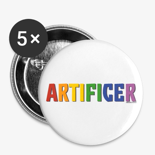 Artificer Pride (Rainbow) - Buttons small 1''/25 mm (5-pack)