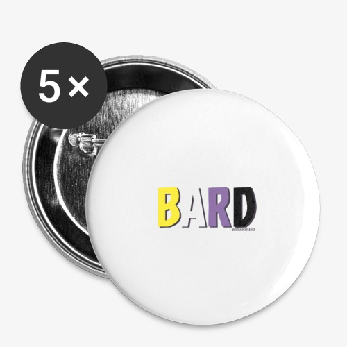 Bard Pride (Non Binary) - Buttons small 1''/25 mm (5-pack)