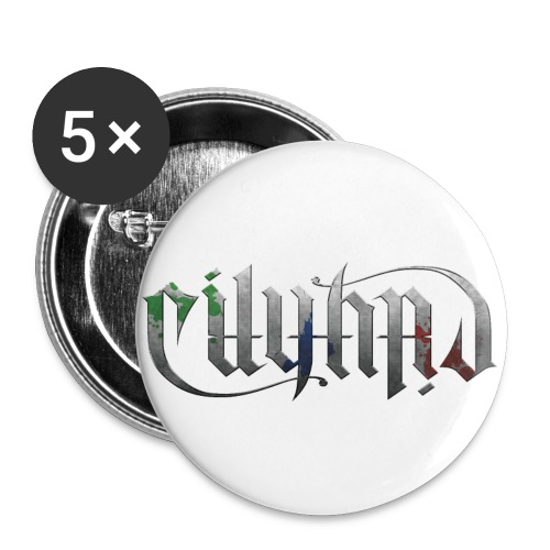 √ Cityard Ambigram Heavy Metal - Buttons/Badges lille, 25 mm (5-pack)