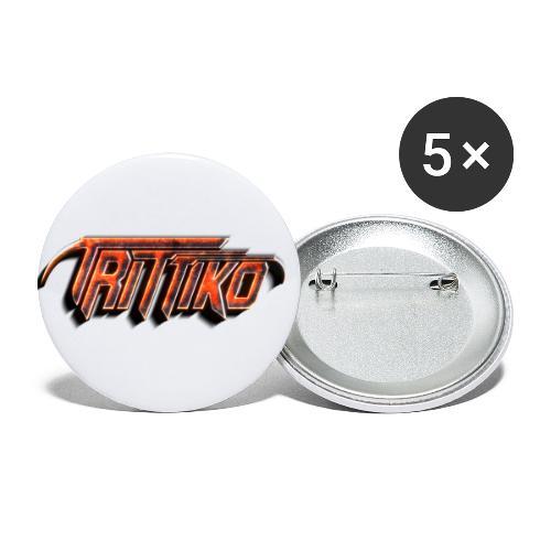 Trittiko Logo Rot 3D - Buttons klein 25 mm (5er Pack)