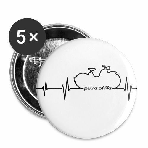 Simson SR1 SR2 EKG - Pulse of Life - Buttons small 1''/25 mm (5-pack)