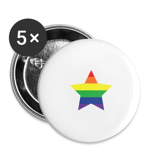Rainbow star - Buttons small 1''/25 mm (5-pack)